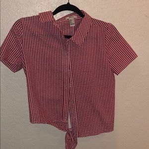 Red Gingam blouse